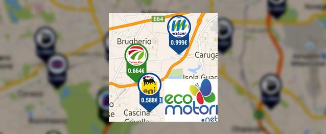 Ecomotori.net per Android - ottima app per trovare distributori di Metano e GPL