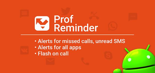 Prof Reminder - notifica chiamate ed SMS con profili personalizzati