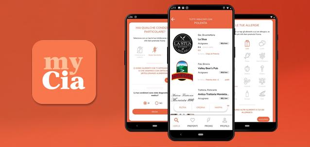 MyCIA - l'app per trovare i ristoranti adatti al proprio stile alimentare