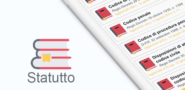 Statutto - Costituzione, codici amministrativi, civili e penali in una sola app!