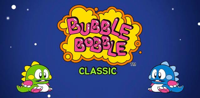 Il mitico BUBBLE BOBBLE classic è arrivato su smartphone!