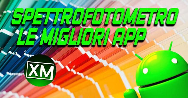 app SPETTROFOTOMETRO per Android